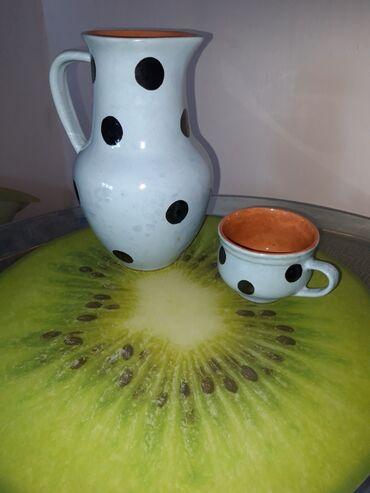 Кувшин и чашка наборпродам в бишкеке, керамика моветского времени
