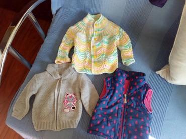 Dečija odeća i obuća - Razanj: Prsluci i dzemperi svaki po 300 dinara,sve za 800din,bez