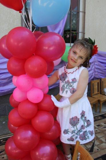 Нарядное платье на девочку 6 лет, бренд Linetta, состояние идеальное в Шопоков