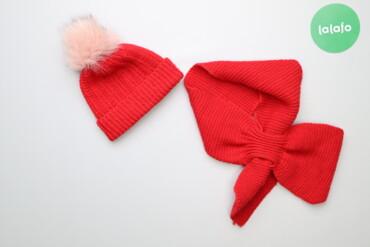 Дитячий набір (шапка з помпоном+шарф)   Довжина шарфа: 93 см Висота ша