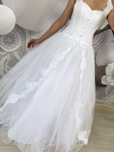 1808 объявлений: Продаётся белое новое платье свадебное размер xs s m