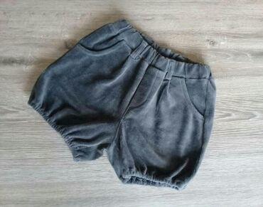 теплые шорты в Кыргызстан: Теплые вельветовые шорты на 8 лет, красивого серого цвета, можно
