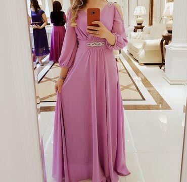 Продаю платье Сиреневое размер 44, шелковистый материал, Г. Бишкек В