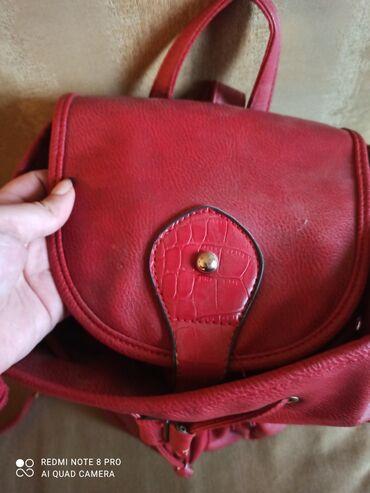 Τσάντα πλατης κόκκινη με πολλες θήκες ευρυχωρη