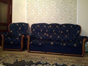 Продается белорусская мягкая мебель (диван, 2 кресла) в отличном состо в Бишкек