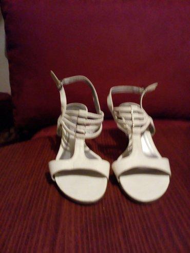 Sandale kozne bele (nemacke), nosene par puta, bez ostecanja, kao nove - Crvenka
