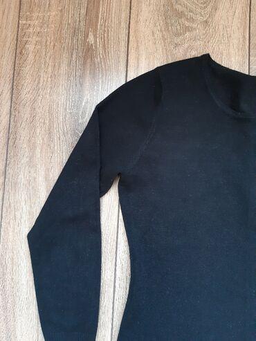 трикотажную кофту в Кыргызстан: Комплект: чёрное платье трикотажное + накидка кирпичного цвета. Носила