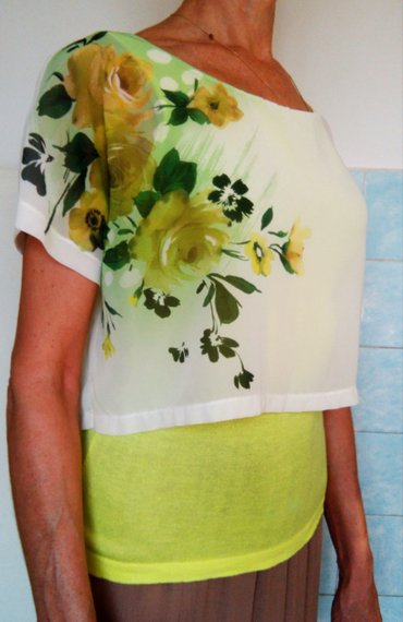 odejda в Кыргызстан: Продам майку-блузку (двойная обманка). размер: 44-46, l. верхняя майка
