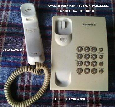 Ostalo za kuću   Vrbas: Vrlo kvalitetan Panasonik fiksni telefon. Cena 700 din. Naručite