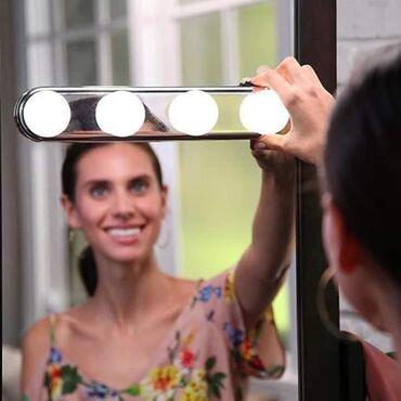 Led lampe za ogledalo rade na baterije i lako se stavljaju i skidaju