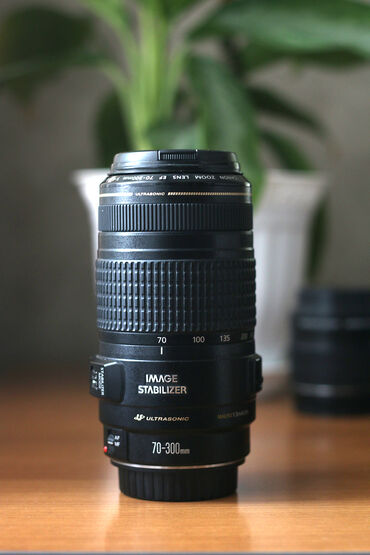 линзы шаринган бишкек в Кыргызстан: Canon ef 70-300mm 4-5.6 is usm  как новый