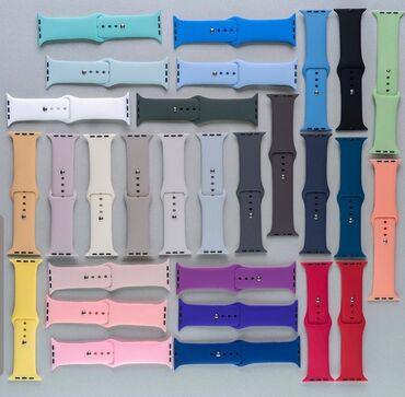 Силиконовые ремешки/браслеты на Apple watch Бишкек 38/40/42/44 разных