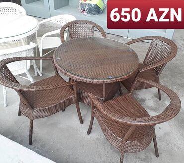 Bağ mebeli - Azərbaycan: 4 neferlik dest Hesir toxunush Yuksek Keyfiyyet Orjinallix Sokulmez