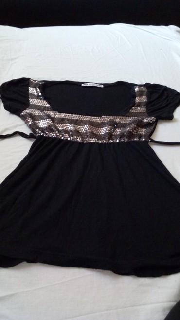 Style-majica-leptir-rukavi-crna-marka - Srbija: Crna majica kratkih rukava
