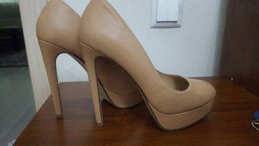 Нюдовые туфли универсальные, каблук в Бишкек