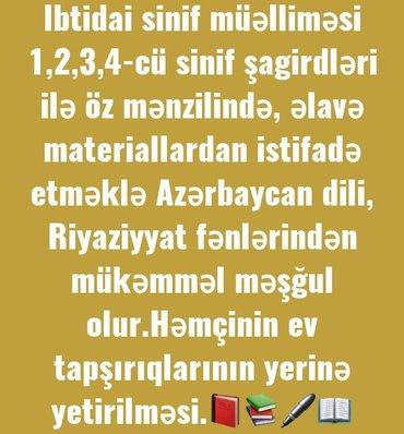 Bakı şəhərində İbtidai sinif müəlliməsi yüksək səviyyədə hazırlıq  keçir.Azərbaycan d