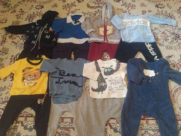 Детский мир - Лебединовка: 8 двоек, 1 слипик, 3 футболки, 2 джинсовые штанишки (один зимний), 1