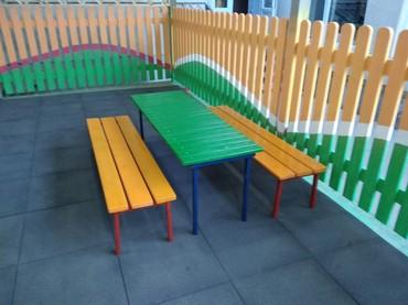 Детские деревянные скамеечки, столики лавочки! любые размеры и