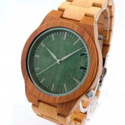 Bobobird Japan 2035 quartz watch bamboo wood sports Wristwatch green σε Athens