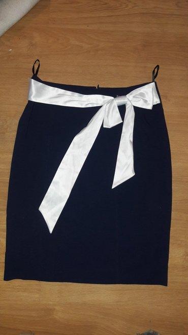 Teget suknja sa belom masnom vel. 36 - Prokuplje