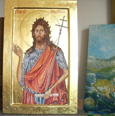Ostalo | Bajina Basta: Ikona Sv. Jovan Krstitelj. Dimenzije 47 x 30 cm. Daska, tempera