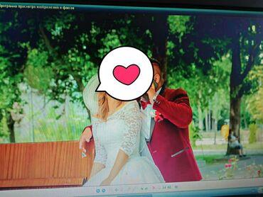 свадебное украшения в Кыргызстан: Продаю очень красивое, нежное свадебное платье . Размер 42-46(на