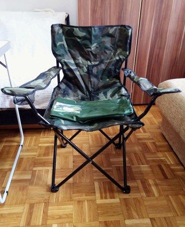 Sklopive kamuflažne stolice pogodne za pecanje, kampovanje, plažu - Belgrade