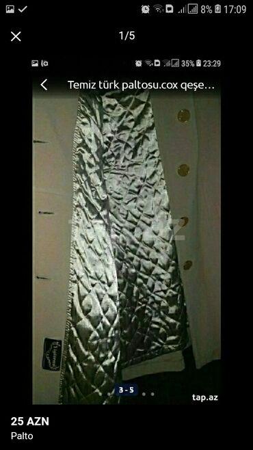 431 elan   ŞƏXSI ƏŞYALAR: Palto 44 - 46 razmer.cox seliqeli ve az istifade edildi