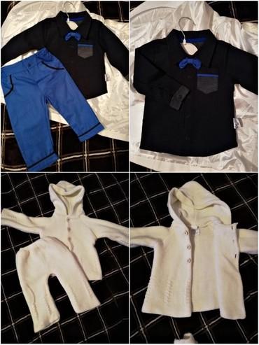Наборы в Кок-Ой: Новый,синий рубашка брюки 500сом комплект. Белый на осень, состояние и