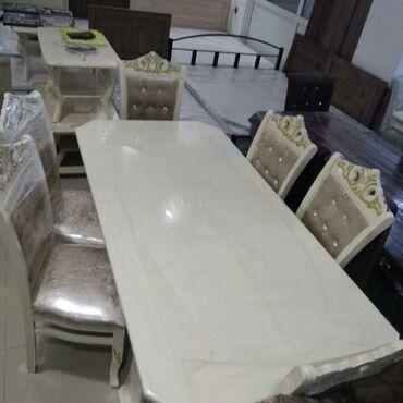 Комплекты столов и стульев в Душанбе: Yeni classic masa va oturacak desdi