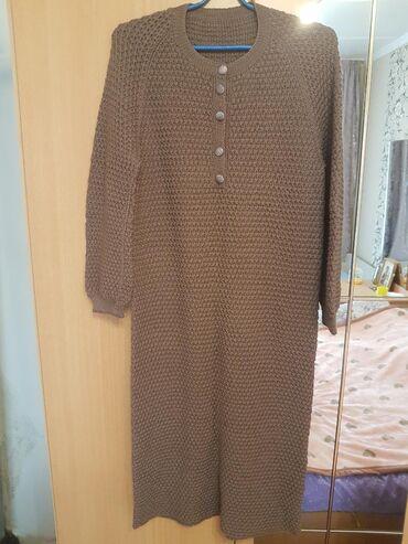 вязаное платье свободного кроя в Кыргызстан: Платье вязаное новое.размер 44-46
