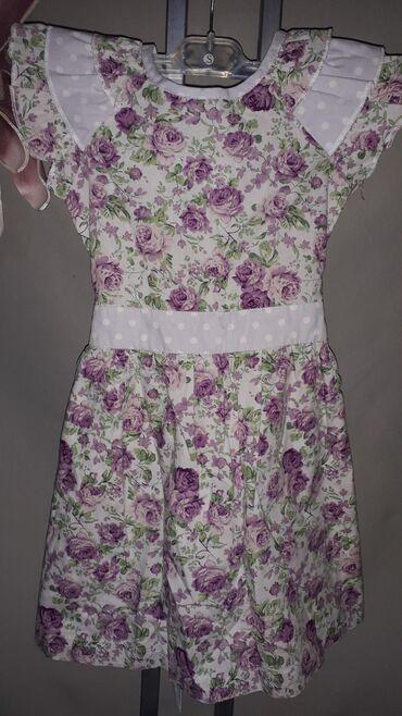 Dečija odeća i obuća - Sombor: Haljina za devojcicu -8  Prelepa haljina na ruzice sa tufnastim karne