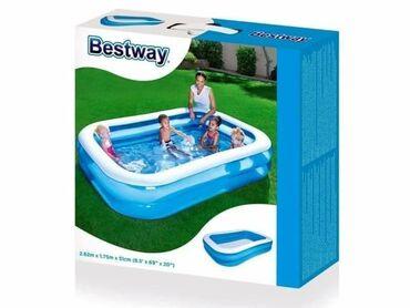 Bestway - Dečiji porodični pravougaoni bazen dimenzija 262 x 175 x 51