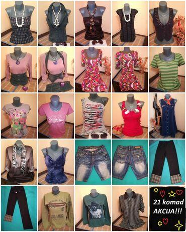 A K C I J A !!!!!!!! 21 komad garderobe, veličina S,M,(haljina-L)  -