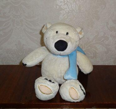 большая мягкая игрушка медвежонок в Кыргызстан: Белый мишка мягкая игрушка 28 см (сидя 20 см)
