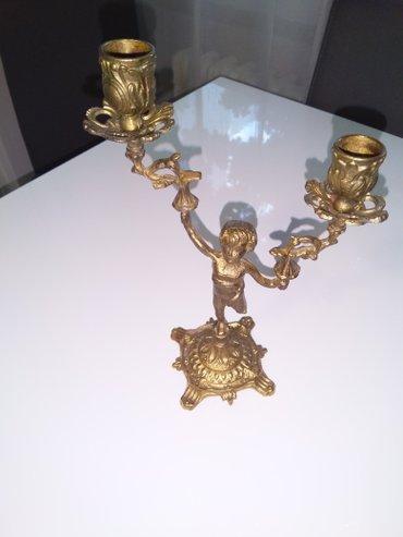 Svecnjak i ogledalo od mesinga, 40 eura po komadu ili 70 eura zajedno - Belgrade