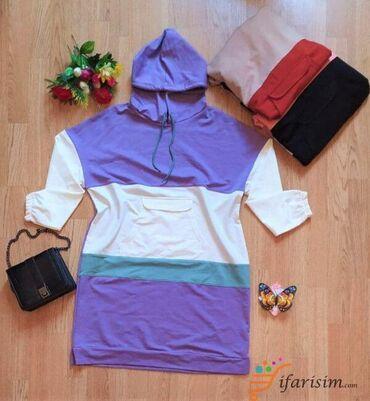 qadın oksfordları - Azərbaycan: Türkiyə istehsalı Papaqlı(kapşonlu) Qadın bluzları Material: 95%