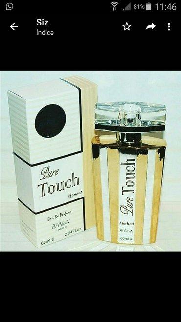 Etir.Touch pure. Qizili ve gumuwu. duxi parfum etir etir sifariwi