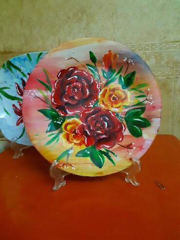 Bakı şəhərində Изображения на тарелки(нарисована акрилом)