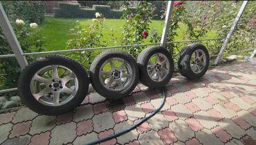 шины 205 65 r15 лето бу в Кыргызстан: Продаю зимнюю резину с дисками 225/65/R17 в отличном состоянии