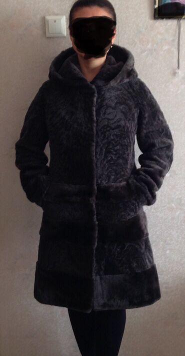 гостиница кара балта in Кыргызстан | КОРОВЫ, БЫКИ: Шуба мутоновая. Цвет графит, шоколад. Размер 44, длинна 100 см. Легкая