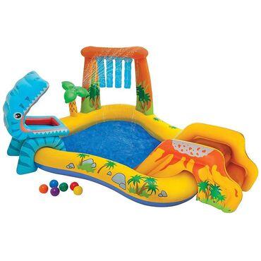 Надувной игровой центр Intex Dinosaur представляет собой детский