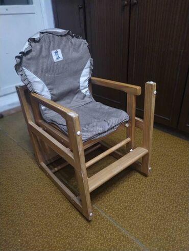 стулья для гостинной недорого в Кыргызстан: Продаю детский стул-трансформер. Есть три положения для использования