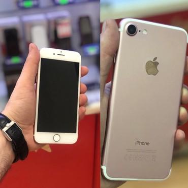 Bakı şəhərində Iphone 7-32gb rozgold az islenmis adaptri var qiymet sondu!