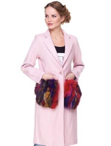 Продаю пальто! Теплое-шерстяное! Мех-натуральный Енот! Мех съёмный! В