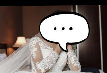 Свадебные платья и аксессуары - Бишкек: Продаю свадебное платье, носился только раз, до этого никто не носил