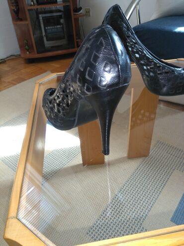 Kozne flekica samo - Srbija: Elegantne, kozne cipele, obucene samo jednom, 39. izgledaju