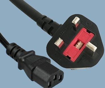 Силовой кабель UK BS 1363 Штекер к IEC 60320 C13 в Бишкек
