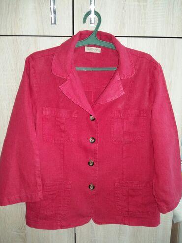 Продаю Женский Костюм пиджак+ брюки малинового цвета (джинса) турция