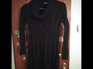 Crna vunena haljina,velicina S - Belgrade